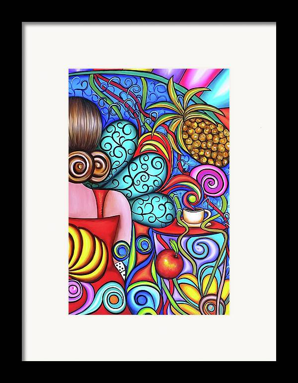 Cuba Framed Print featuring the painting On My Mind by Annie Maxwell