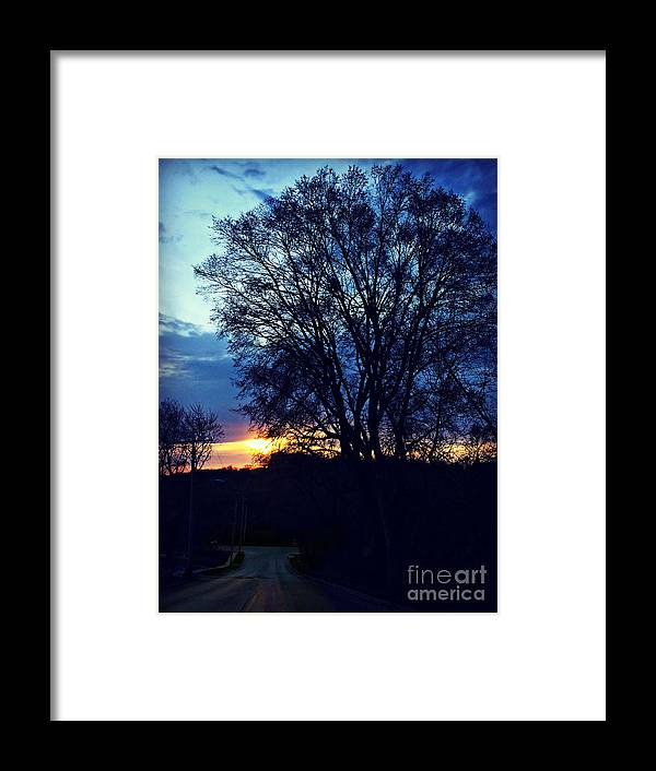 On My Way Framed Print featuring the photograph On My Way by Kathy M Krause