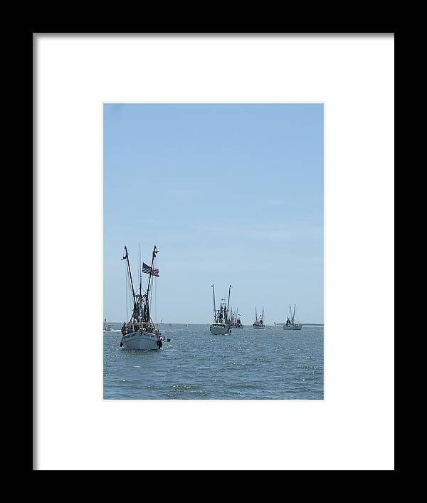 Boat Framed Print featuring the photograph On Parade by Ted Putman