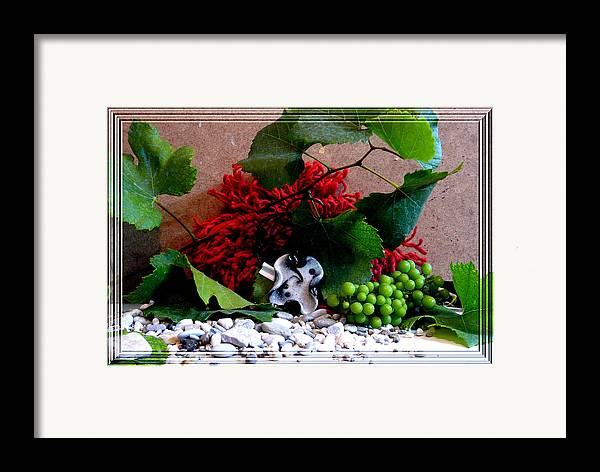 Jewel Framed Print featuring the photograph On Pebbles by Chara Giakoumaki