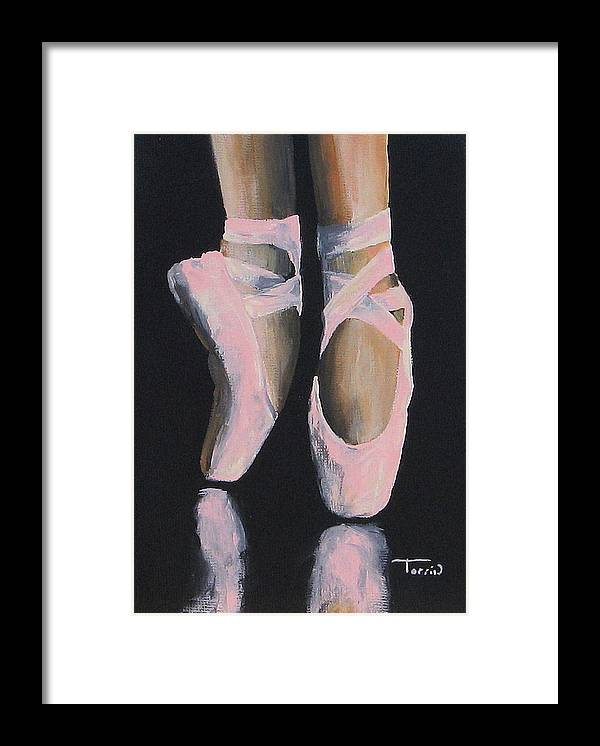 Ballet Framed Print featuring the painting On Point by Torrie Smiley