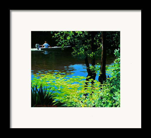 Calcasieu River Framed Print featuring the painting On The Calcasieu by Kevin Lawrence Leveque