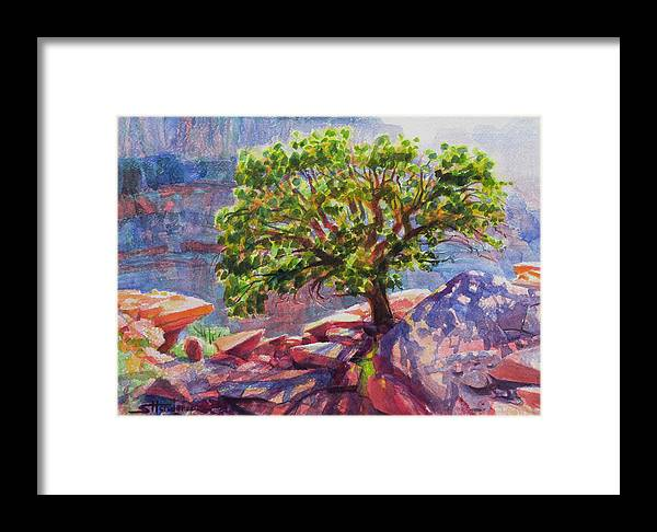 Southwest Framed Print featuring the painting Living On The Edge by Steve Henderson