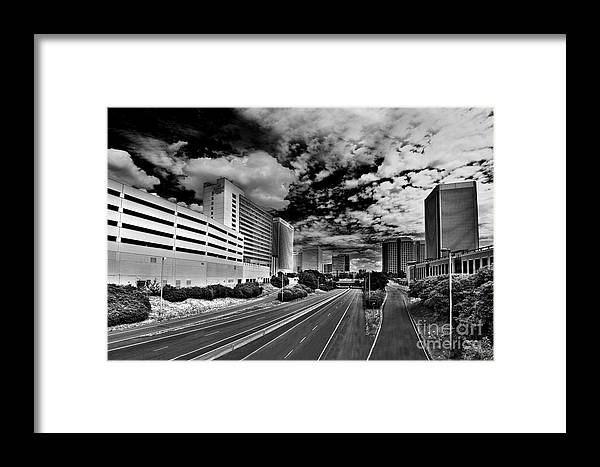Downtown Framed Print featuring the photograph On The Expressway by Tim Wilson