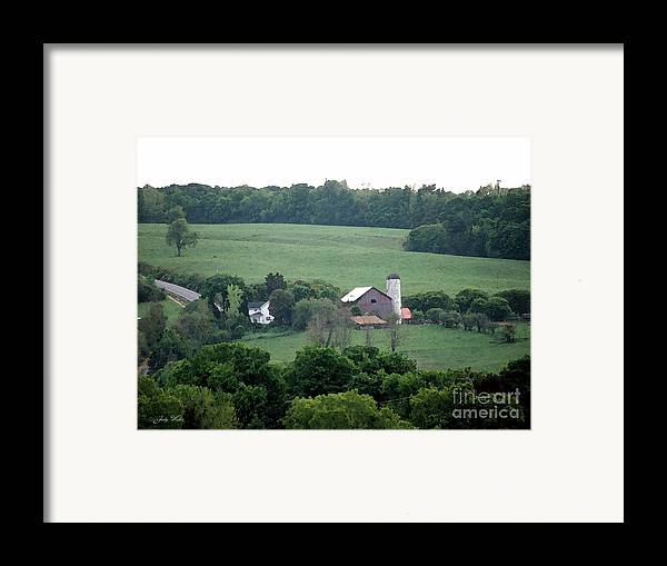 Hills Framed Print featuring the photograph On The Farm by Judy Waller
