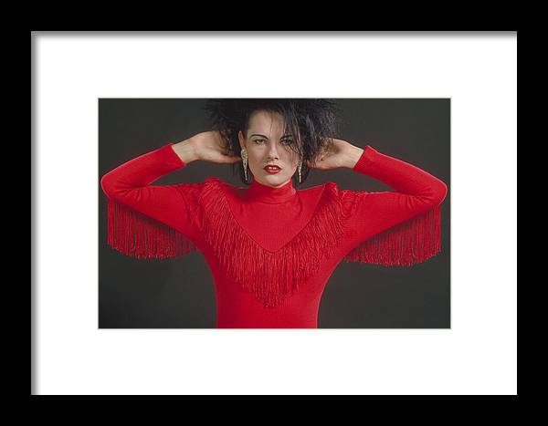 Woman Framed Print featuring the photograph On The Fringe by Jerry McElroy