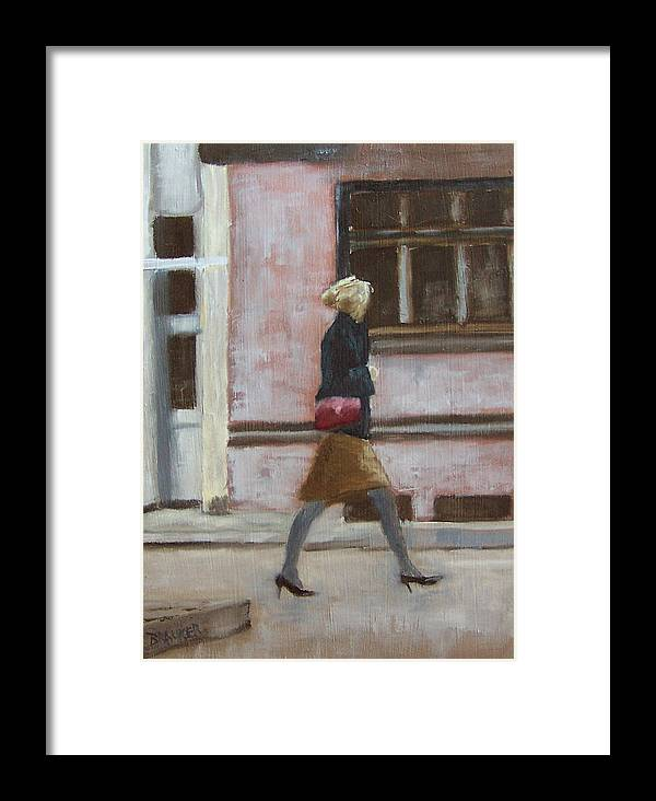 Landscape Framed Print featuring the painting On The Move by Bill Brauker