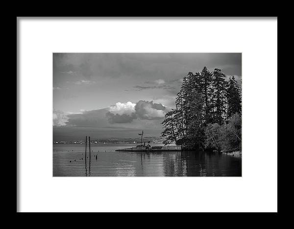 River Framed Print featuring the photograph On The River by Sara Absher
