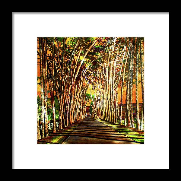 Vineyard Framed Print featuring the painting On The Road by Michael Durst