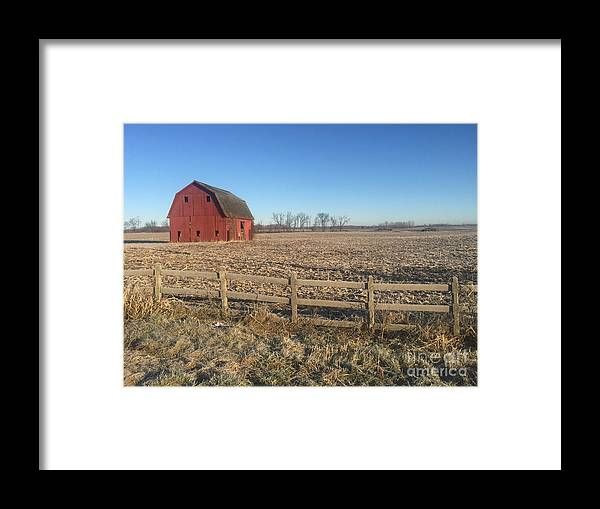 Farm Framed Print featuring the photograph On The Road To Howell by Joseph Yarbrough
