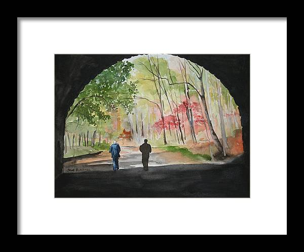Road Framed Print featuring the painting On The Road To Nowhere by Jean Blackmer