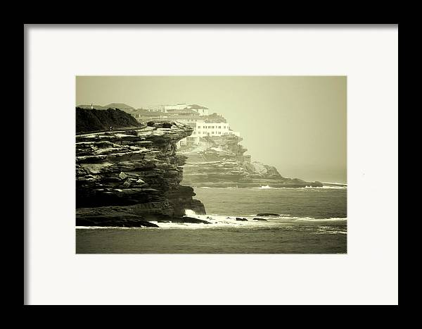 Landscapes Framed Print featuring the photograph On The Rugged Cliffs by Holly Kempe