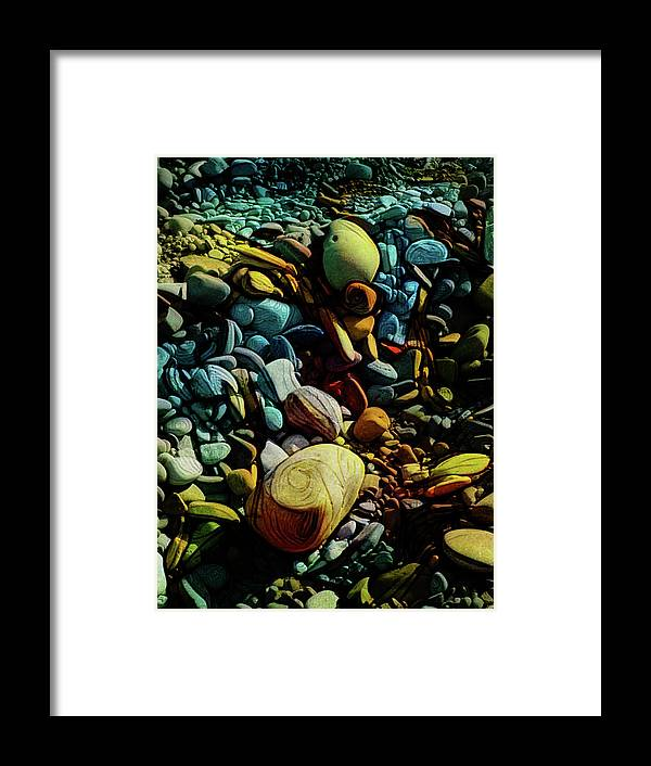 Art Framed Print featuring the digital art On The Shores Of My Imagination by Steve Taylor