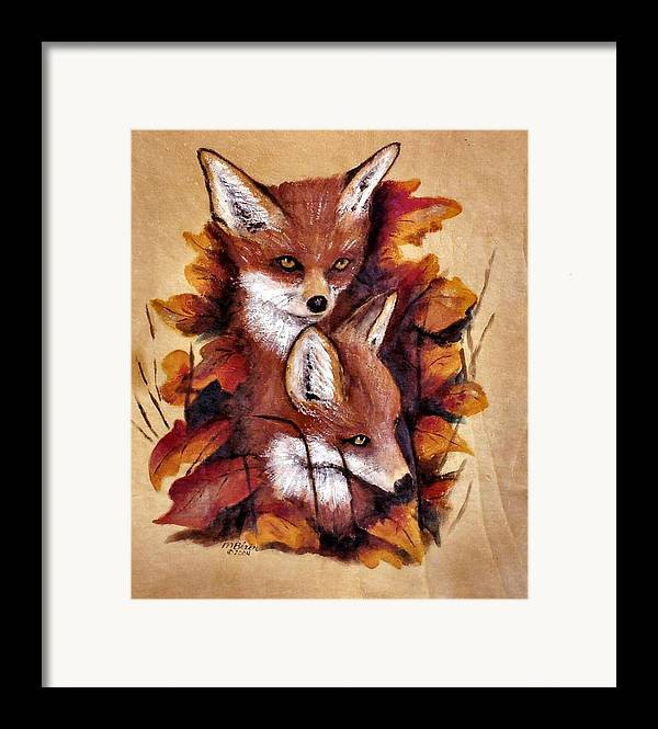 Animals Framed Print featuring the painting On The Sly by Merle Blair