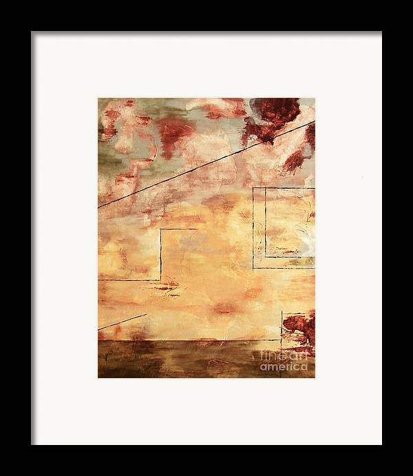 Abstract Framed Print featuring the painting On The Verge by Itaya Lightbourne