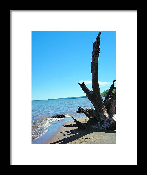 Landscape Framed Print featuring the photograph On The Water Front by Peter Mowry