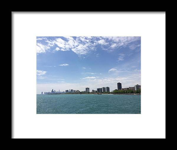 Cityscape Framed Print featuring the photograph On The Water by Margaret Fronimos