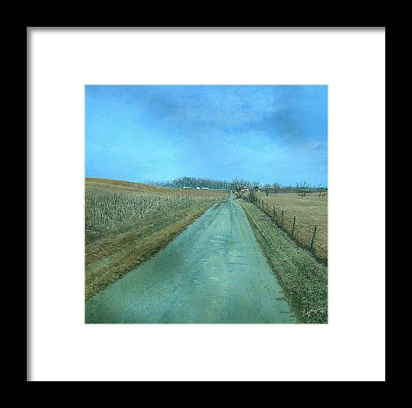 Landscape Framed Print featuring the painting On The Way 5 by Richard Ong