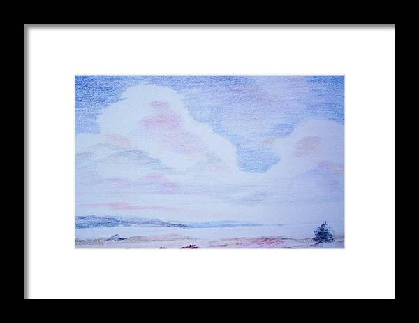 Landscape Painting Framed Print featuring the painting On the Way by Suzanne Udell Levinger