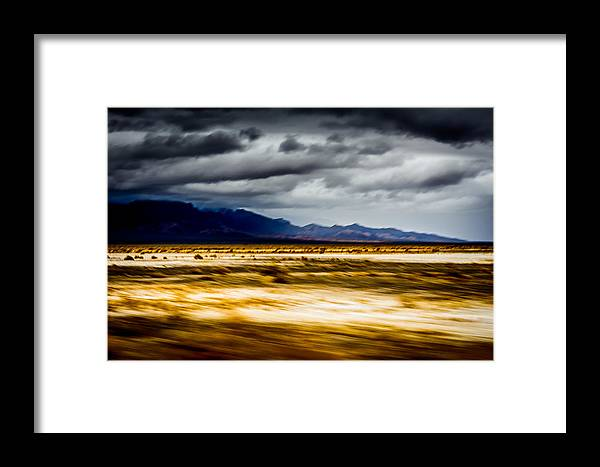 California Framed Print featuring the photograph On The Way To Death Valley by Smadar Sonya Strauss