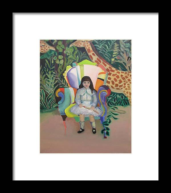 Girl Framed Print featuring the painting On The Wild Side by Gail Eisenfeld