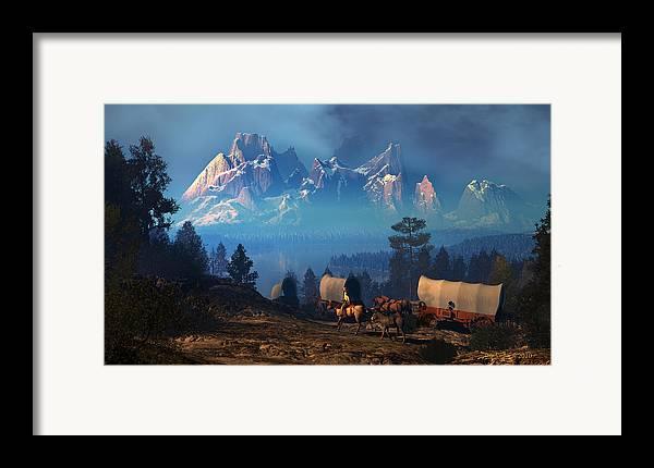 Dieter Carlton Framed Print featuring the digital art Once But Long Ago by Dieter Carlton