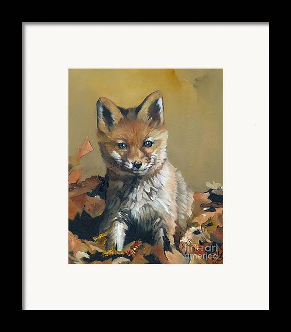 Fox Framed Print featuring the painting Once Upon A Time by J W Baker