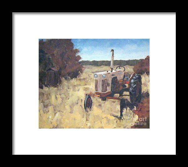 Landscape Framed Print featuring the painting Once Upon A Time by Tate Hamilton