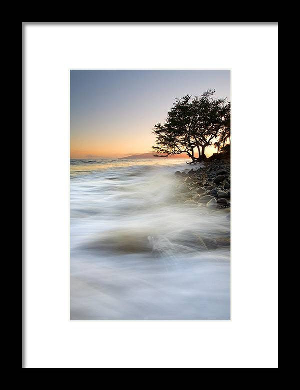 Sunset Framed Print featuring the photograph One Against The Tides by Mike Dawson