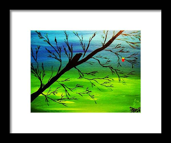 Tree Framed Print featuring the painting One Alive by Paula Ferguson