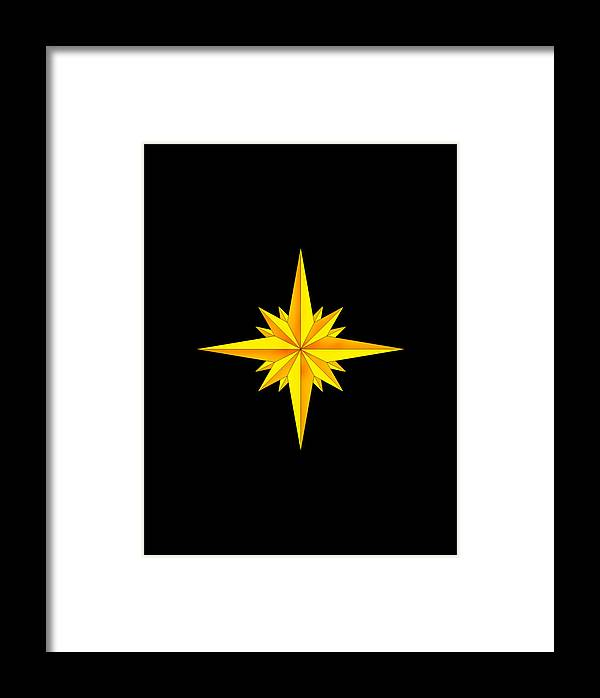 Compass Framed Print featuring the painting One Brite And Shining Star by Anne Norskog