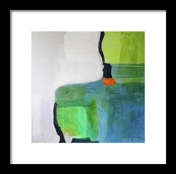 Abstract Framed Print featuring the painting One Day I Was Dreaming by Claire Desjardins