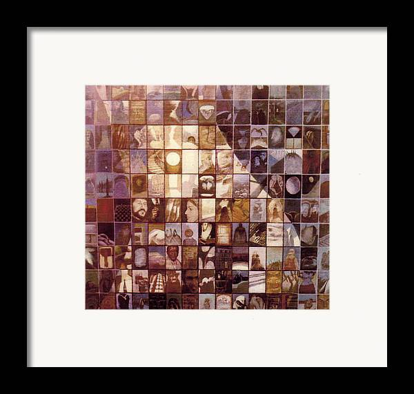 Mosaic Framed Print featuring the painting One Hundred And Fifty by James LeGros