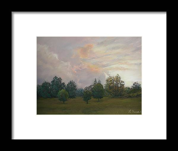 Sunset Framed Print featuring the pastel One Magnificent Evening by Linda Preece