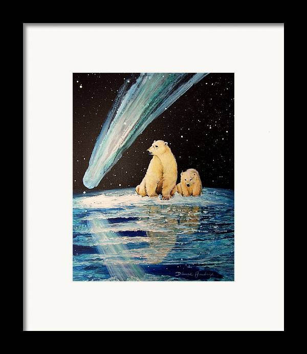 Alaska Framed Print featuring the painting One Mile From The Top Of Alaska by Dianne Roberson