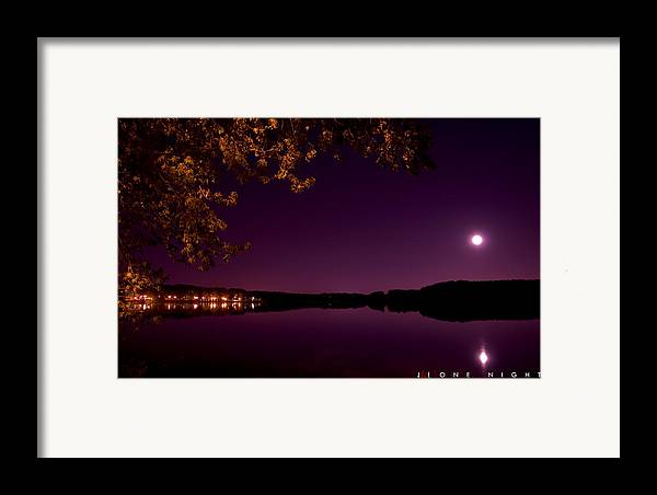 Lake Framed Print featuring the photograph One Night by Jonathan Ellis Keys