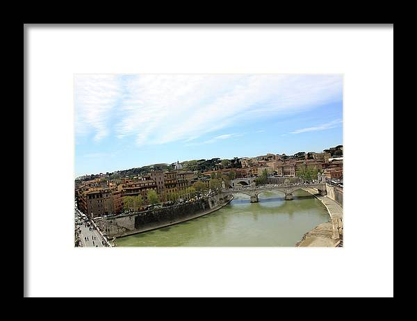Rome Framed Print featuring the photograph One of Rome's Bridge by Munir Alawi