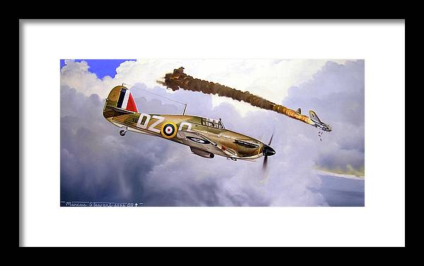 Aviation Art Framed Print featuring the painting One Of The Few by Marc Stewart
