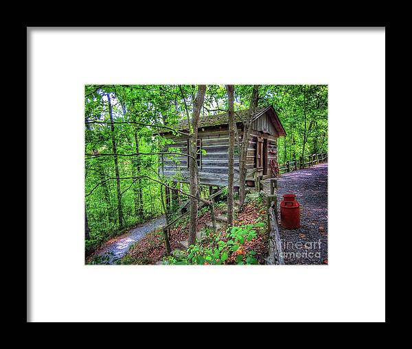 Log Cabin School House Framed Print featuring the photograph One Room School House by John Myers