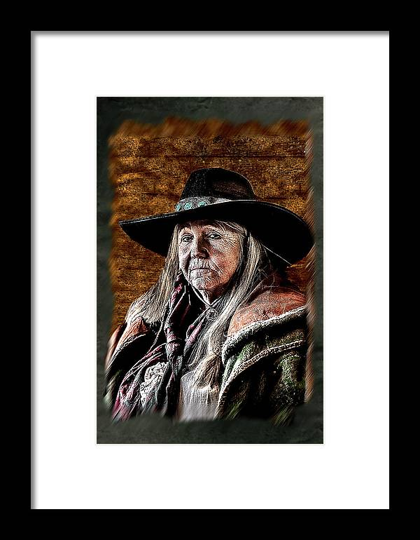 Cowgirl Framed Print featuring the photograph One Serious Cowgirl by Daniel T Pope