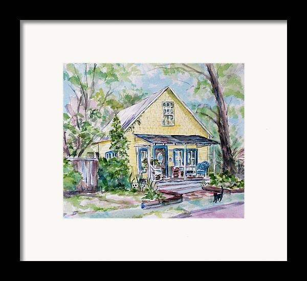 House Framed Print featuring the painting One Thirty Five by Ruth Mabee