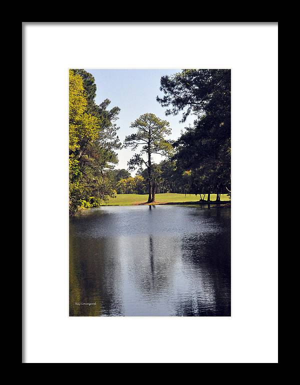 Water Framed Print featuring the photograph One Tree by Kay Lovingood