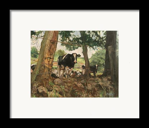 Woods Framed Print featuring the painting Onlookers by Robert Tutsky