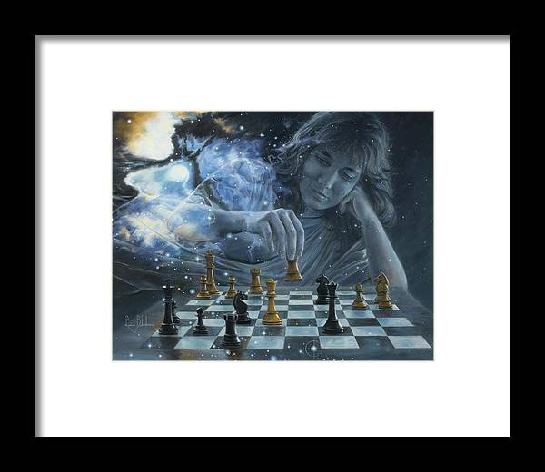Spiritual Framed Print featuring the painting Only A Game by Lucie Bilodeau