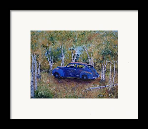 Landscape Framed Print featuring the painting Only Just Begun by Maxine Ouellet
