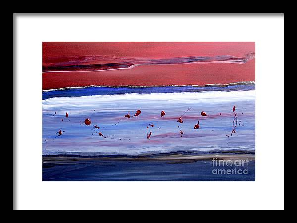 Abstract Framed Print featuring the painting Only One by Paul Anderson