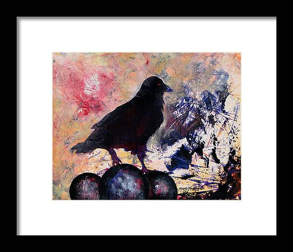 Raven Framed Print featuring the painting Only This by Sandy Applegate