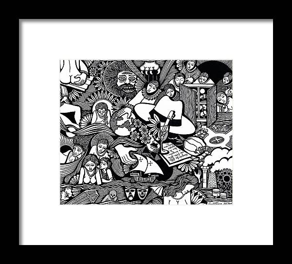 Drawing Framed Print featuring the drawing Only You Are Important To Yourself by Jose Alberto Gomes Pereira