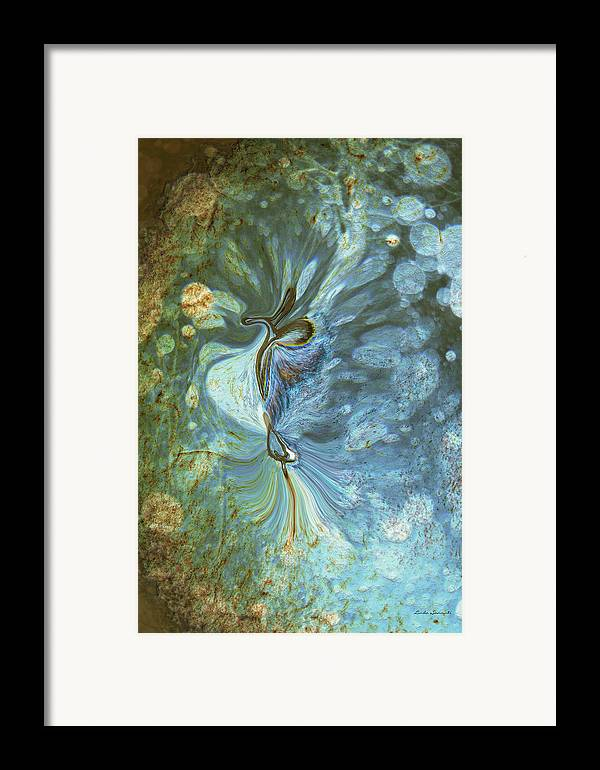 Abstract Framed Print featuring the digital art Onward by Linda Sannuti