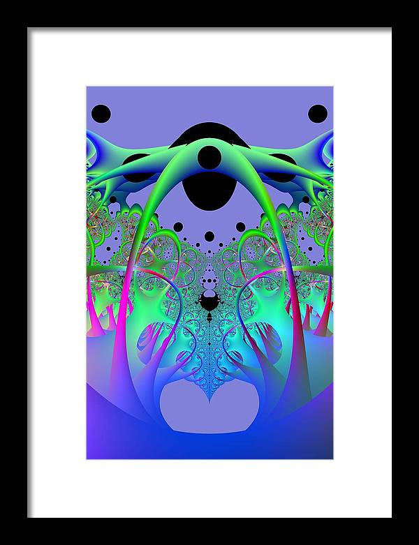 Fractal Framed Print featuring the digital art Oodle World by Frederic Durville